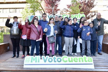 Una imagen del acto del voto en Madrid