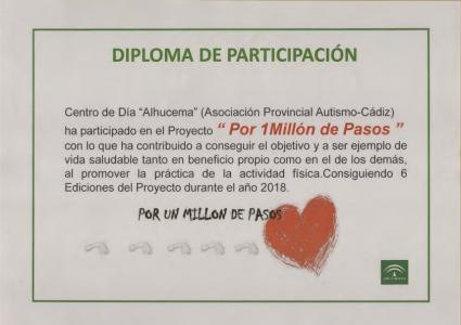 """Campaña Por un millón de pasos"""" 2018."""