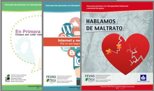 Portadas de las guías de FEVAS Plena inclusión Euskadi