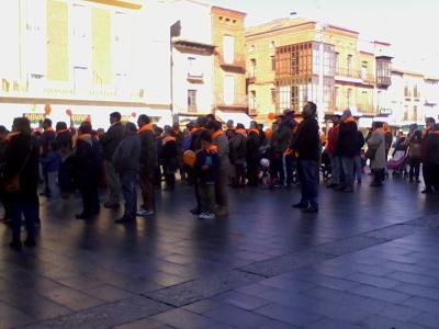 Imagen de la Marcha DI CAPACIDAD en la Plaza Mayor de Medina del Campo