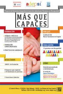 CARTEL PUBLICITARIO MÁS QUE CAPACES