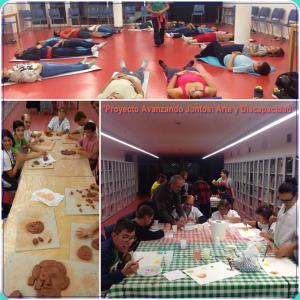 Muestra de los talleres que se desarrollan dentro del proyecto Avanzando Juntos: Arte y Discapacidad