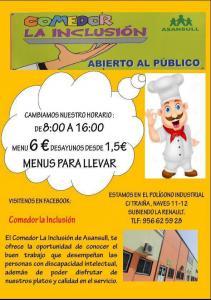 Comedor La Inclusión de Asansull, disfruta de nuestros platos y calidad en el servicio