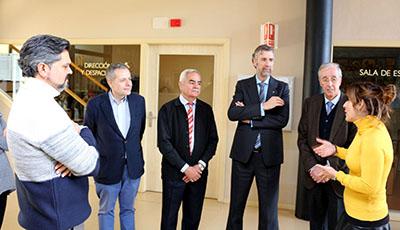 Visita rector UBU a Aspanias